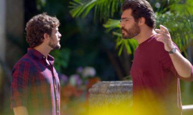 Lúcio e Rodrigo acabam discutindo nesta segunda (26) em 'A Vida da Gente'