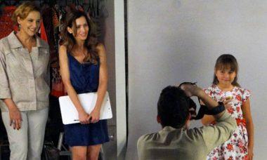 Eva leva Júlia para ensaio de campanha nesta quinta (29) em 'A Vida da Gente'