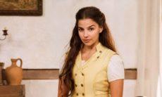 Pilar consegue pegar a balsa à Salvador nesta terça (10) em 'Nos Tempos do Imperador'