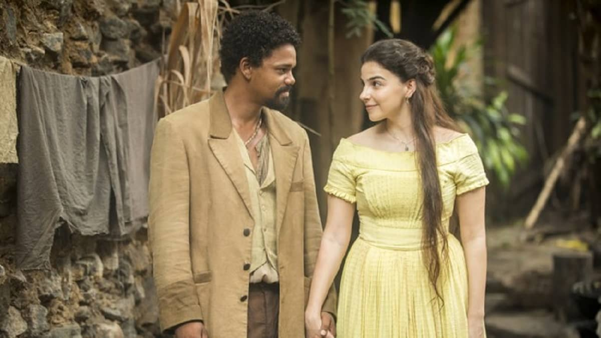 Samuel pede Pilar em noivado nesta terça (31) em 'Nos Tempos do Imperador'