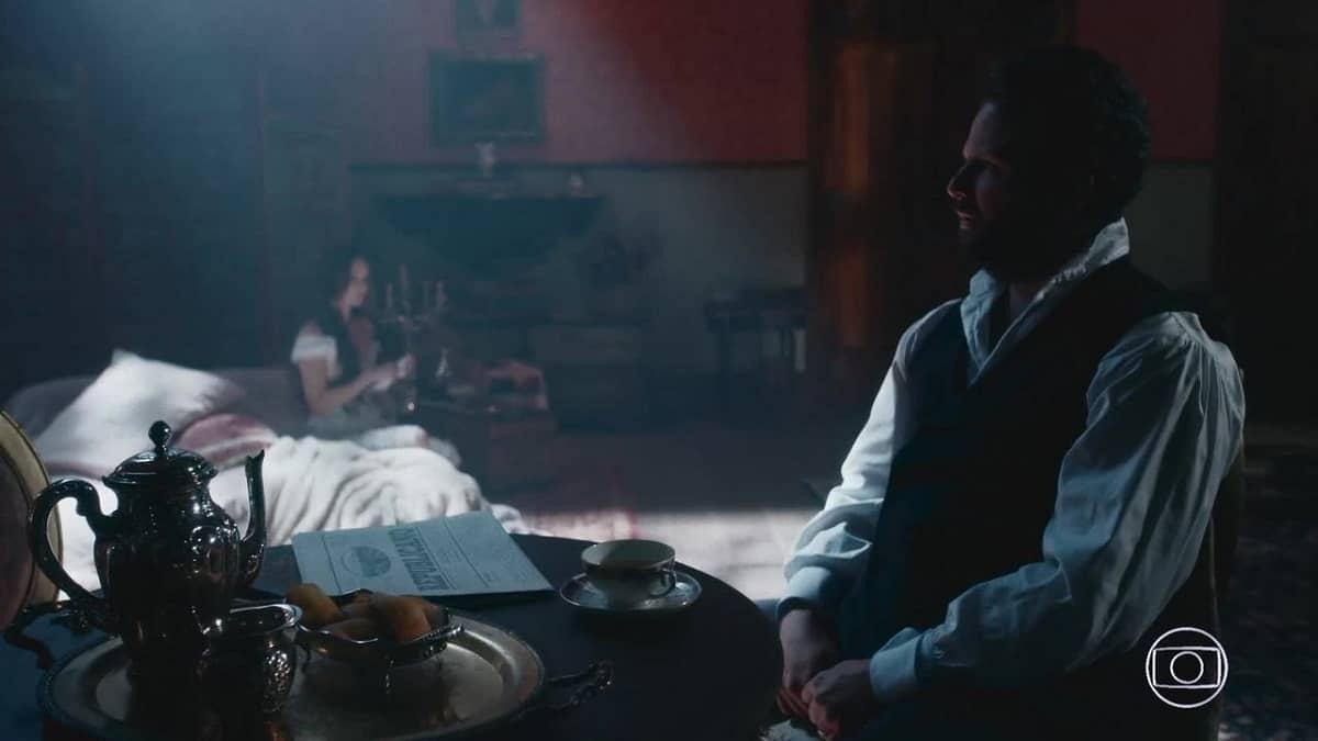 Luísa alerta Pedro sobre Tonico nesta quinta (23) em 'Nos Tempos do Imperador'