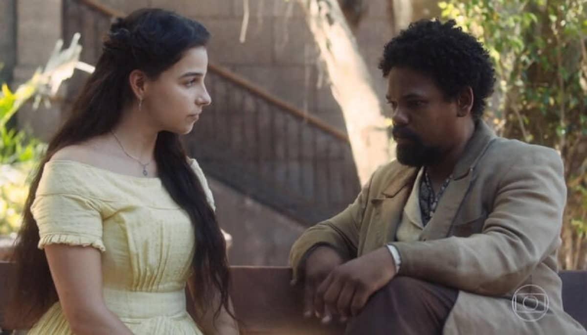 Samuel encontra Pilar nesta terça (21) em 'Nos Tempos do Imperador'