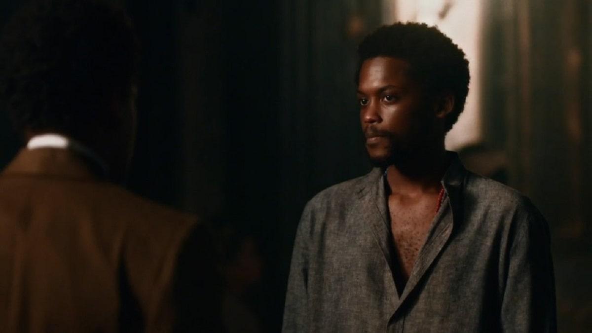 Guebo alerta Samuel sobre Zayla neste sábado (23) em 'Nos Tempos do Imperador'