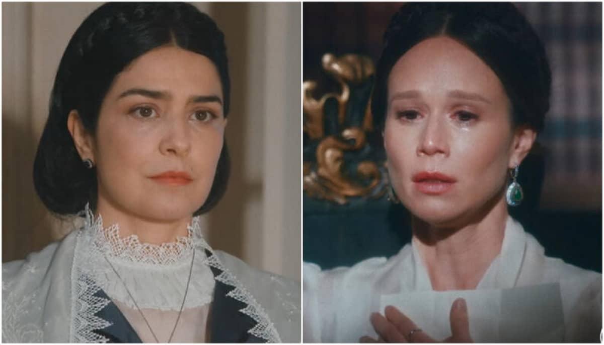Teresa conforta Luísa nesta sexta (8) em 'Nos Tempos do Imperador'